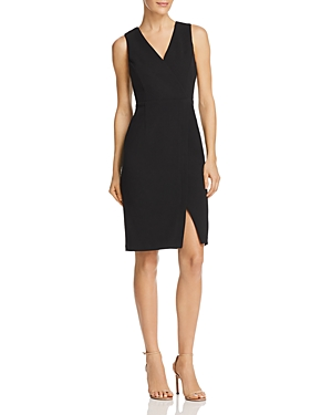 Adrianna Papell Crepe Faux-Wrap Dress