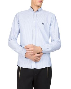 The Kooples Striped Oxford Slim Fit Button-Down Shirt
