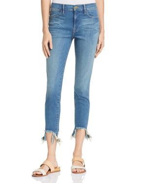 Frame Le High Shredded Hem Skinny Jeans in Culver 2909051