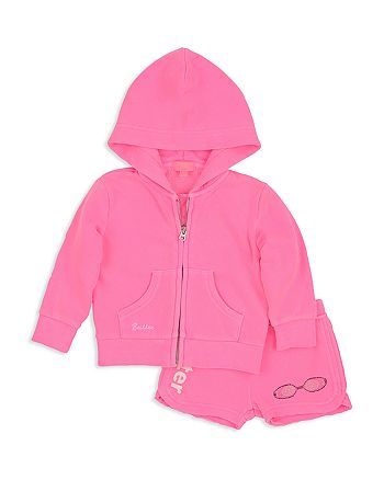 Butter - Girls' Embellished Pool Day Hoodie & Shorts Set - Little Kid