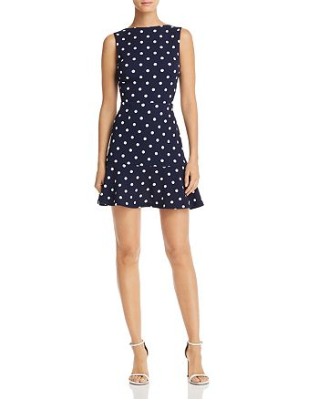 AQUA - Ruffle-Hem Polka Dot Dress - 100% Exclusive