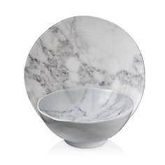 Merritt White Marble Melamine Dinnerware - Bloomingdale's_0