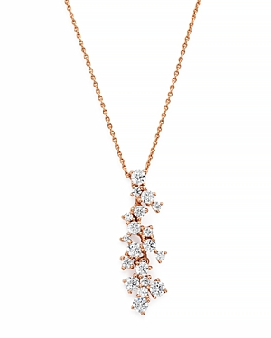 Bloomingdale's Diamond Cascade Pendant Necklace in 14K Rose Gold, 0.50 ct. t.w. - 100% Exclusive