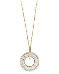 Bloomingdale's Diamond Baguette Circle Pendant Necklace in 14K Yellow Gold, 0.70 ct. t.w. - 100% Exclusive _0