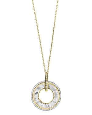 Bloomingdale's Diamond Baguette Circle Pendant Necklace in 14K Yellow Gold, 0.70 ct. t.w. - 100% Exclusive