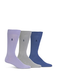 Polo Ralph Lauren Super Soft Flat Knit Socks - Pack of 3 - Bloomingdale's_0