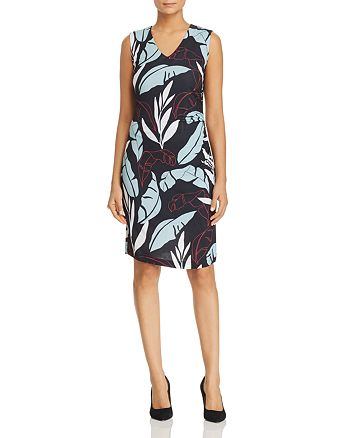 BOSS - Erea Leaf-Print Sheath Dress