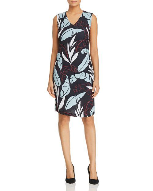 BOSS - Erea Leaf-Print Sheath Dress