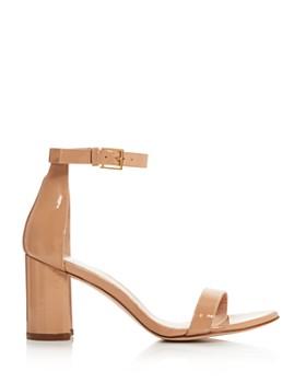Stuart Weitzman - Women's Lessnudist Block Heel Sandals
