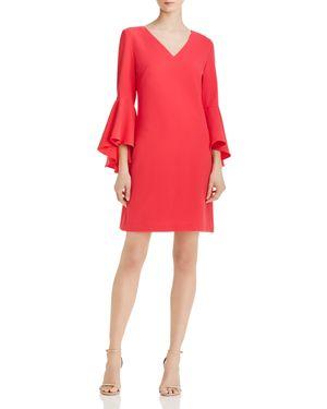 Eliza J Bell-Sleeve Crepe Dress 2951597