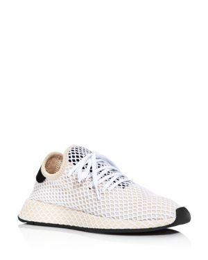 Deerupt Runner Suede-Trimmed Mesh Sneakers, Linen