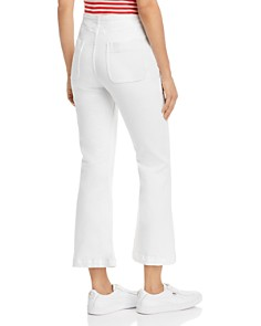 Current/Elliott - The Ultra High-Rise Cropped Flared Jeans in Sugar