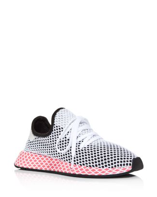 adidas Women's Deerupt Runner Net Lace Up Sneakers