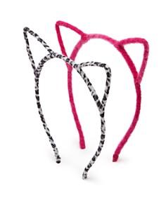Capelli Girls' Fuzzy Cat Headbands, Set of 2 - Bloomingdale's_0