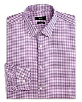 BOSS - Micro Grid Slim Fit Dress Shirt