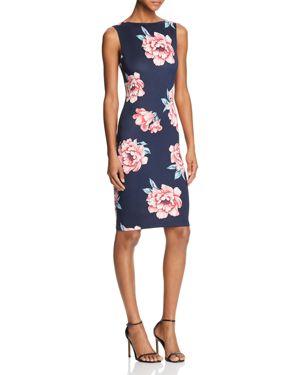 Aqua Scoop-Back Floral-Print Dress - 100% Exclusive 2900977