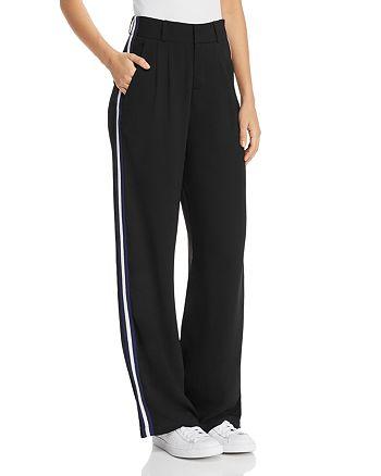 AQUA - Side-Stripe Wide-Leg Pants - 100% Exclusive