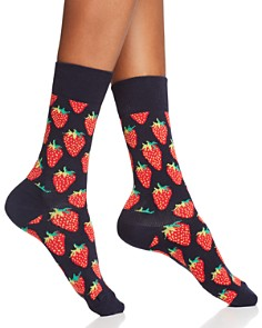 Happy Socks Strawberry Crew Socks - Bloomingdale's_0
