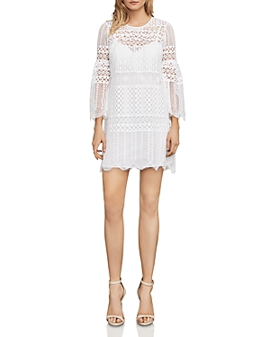 Bcbgmaxazria Bell Sleeve Lace Dress