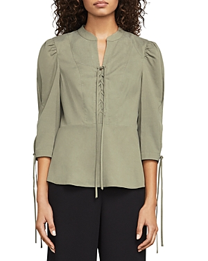 Bcbgmaxazria Carli Lace-Up Peplum Top