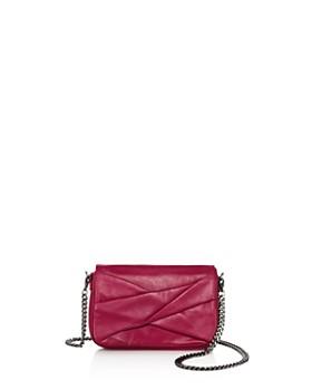 HALSTON HERITAGE - Grace Small Bow Convertible Leather Crossbody ... e2c02a8e7a170