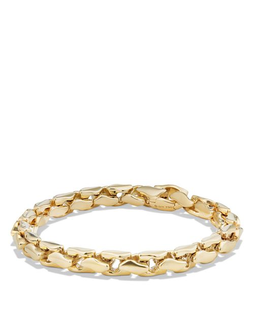 David Yurman - Large Fluted Chain Bracelet in 18K Gold