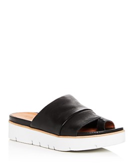 Gentle Souls by Kenneth Cole - Women's Lavern Leather Platform Slide Sandals