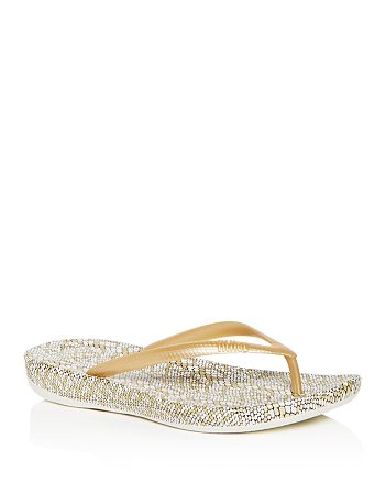 FitFlop - Women's iQushion Snake Print Flip-Flops