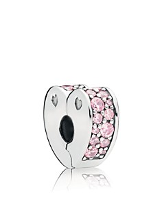 PANDORA Sterling Silver & Cubic Zirconia Friends Are Family Pink Arcs of Love Clip - Bloomingdale's_0