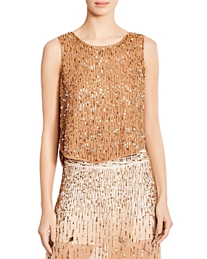 Haute Hippie Criminal Love Metallic Beaded & Sequined Top