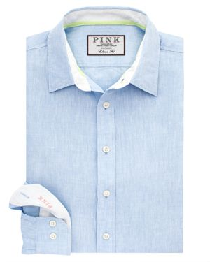 THOMAS PINK MALCOLM PLAIN DRESS SHIRT - BLOOMINGDALE'S CLASSIC FIT