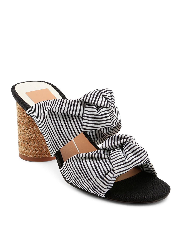 Dolce Vita Women's Jene Knotted Block Heel Slide Sandals zOw58DZCGk