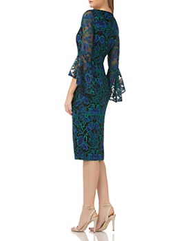 Carmen Marc Valvo - Bell-Sleeve Lace Dress
