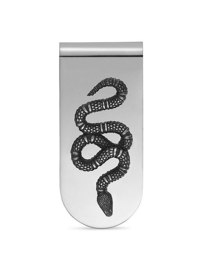 Gucci - Sterling Silver Snake Motif Money Clip
