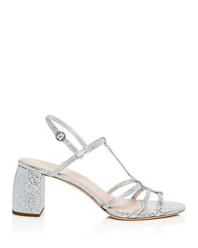 Loeffler Randall - Women's Elena Leather T Strap Block Heel Sandals