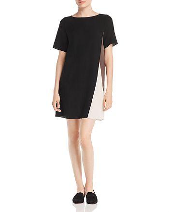 Eileen Fisher Petites - Silk Color Block Shift Dress