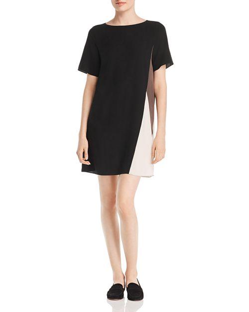 Eileen Fisher - Silk Color Block Shift Dress