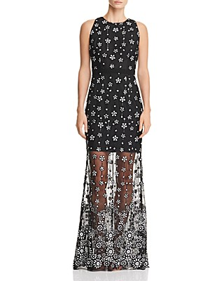 Aidan by Aidan Mattox Sequined Illusion Gown   Bloomingdale\'s