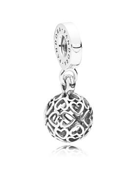 Pandora - Sterling Silver Harmonious Hearts Drop Charm