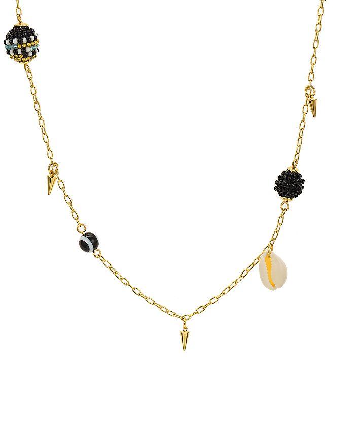 "Rebecca Minkoff - Shell & Bead Necklace, 34"""