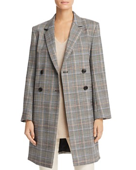 Theory - Plaid Double-Breasted Jacket