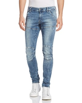 G-STAR RAW - 5620 3D Super Slim Fit Jeans in Light Vintage Aged Destroyed