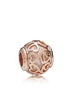 PANDORA Rose Gold-Tone Sterling Silver Hearts Filigree Charm - Bloomingdale's_0