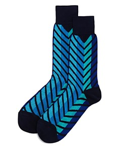 The Men's Store at Bloomingdale's Exploded Chevron Socks - 100% Exclusive_0