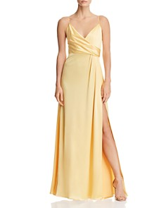Jill Jill Stuart Crossover Satin Gown - Bloomingdale's_0