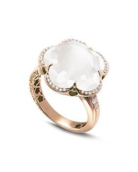Pasquale Bruni - 18K Rose Gold Bon Ton Floral Gemstone & Diamond Ring