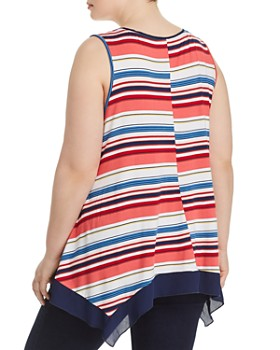 Cupio Plus - Striped Handkerchief Tank
