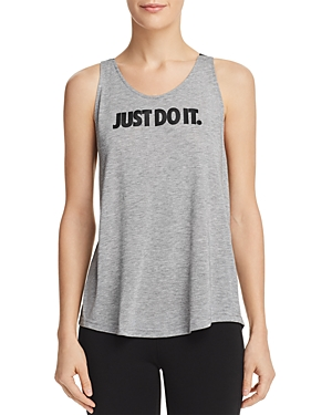 3a4d0e36df3c0c Nike Breathe Dri-Fit Open-Back Tank Top In Carbon Heather Black ...