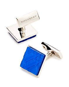 Burberry Ice Engraved Check Square Cufflinks - Bloomingdale's_0