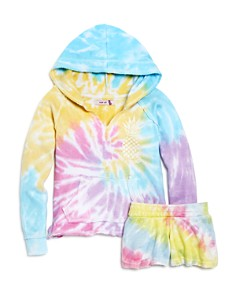 Play Six Girls' Tie-Dye Hoodie & Shorts - Little Kid - Bloomingdale's_0